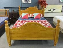 DELIVERY TODAY SET of QUALITY STRONG WOODEN Queen bed & mattress Belmont Belmont Area Preview