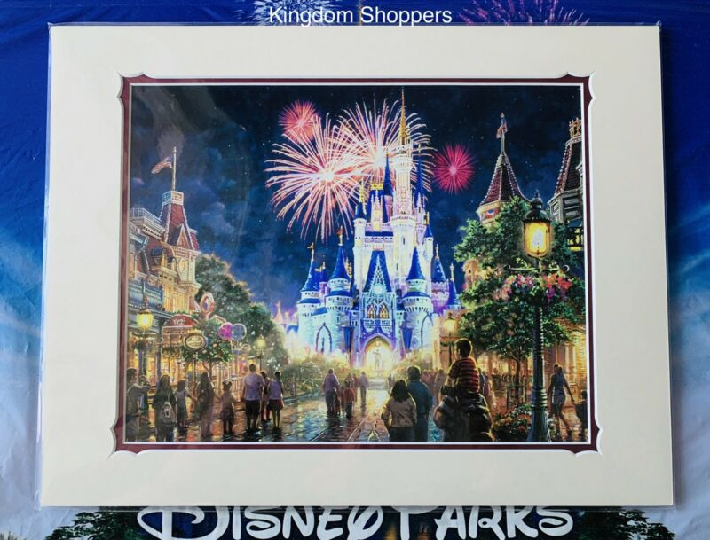 "New Disney Parks Main Street USA Magic Kingdom Thomas Kinkade  Print 18"" x 14"""