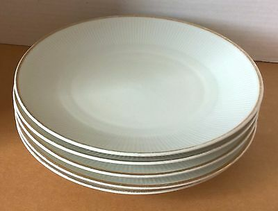 Kahla GDR Plates Vintage White With Gold Trim