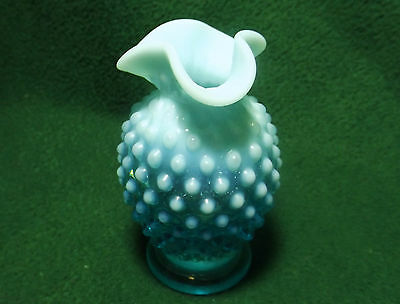 Fenton Small Hobnail Opalescent Three Crimp Vase ()
