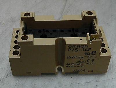 NEW NO BOX! Omron Relay Base, P7S-14F, 6 A, 277 / 250 VAC, NNB, Warranty