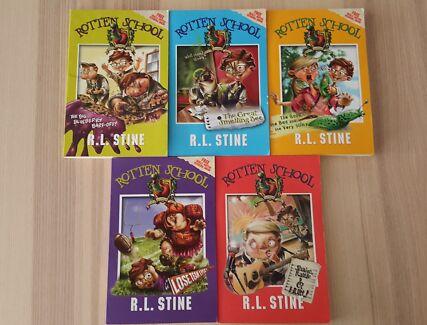 R. L. Stein Rotten School Series Book Set of 5 books
