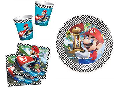 Super Mario Mario Kart Ultimative Party Packung 32 Platten, 32 Becher und 64
