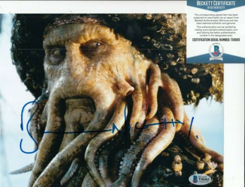 BILL NIGHY signed (PIRATES OF THE CARIBBEAN) Movie 8X10 photo BECKETT BAS T56563