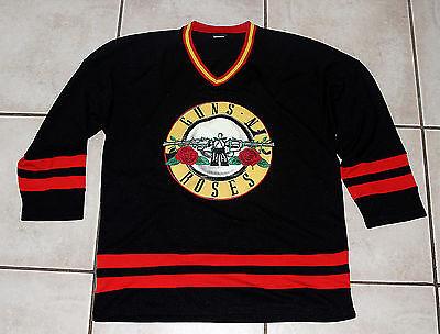 GUNS N ROSES  Embroidered Hockey Jersey Shirt Medium