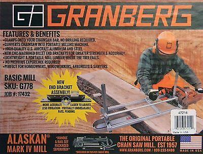 Granberg Alaskan G776 G781-30 Portable 30 Chainsaw Saw Mill Sawmill Chain Saw