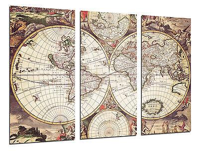 Cuadro Moderno Mapa Mundi Antiguo, Mapa Vintage, ref. 26504