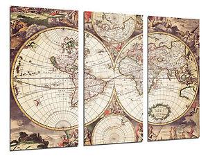 Cuadro Moderno Mapa Mundi Antiguo Mapa Vintage ref 26504  eBay