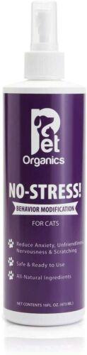 Pet Organics No-Stress Spray for Cats 16 Oz / 473ml - New