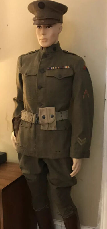 WWI M1917 Spec 1285 Service Uniform; 5th Tank Company, US Tank Corps; SR TK ENGR