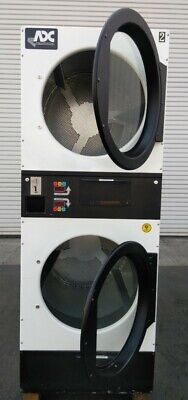 White Adc American Dryer Corp Stack Dryer Coin Op 30lb Sn 620328 Refurb.
