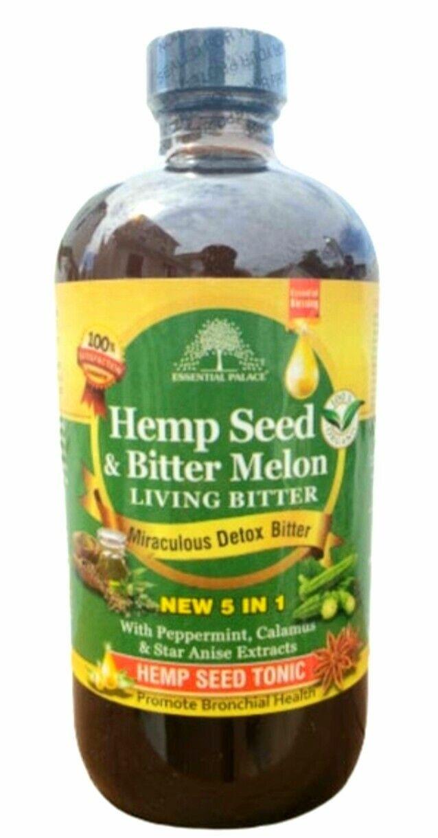Organic Hemp Seed & Bitter Melon Living Bitters 16oz