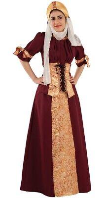 Déguisement Femme PRINCESSE Médiévale Luxe L 42 Dame Moyen Age NEUF