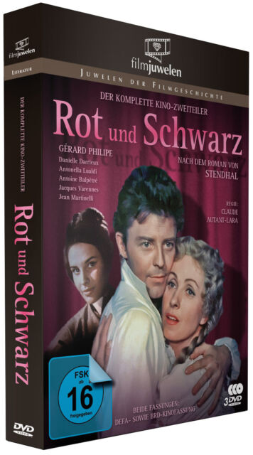 Rot und Schwarz - Gerard Philipe (Le Rouge et le Noir, 1954) - Filmjuwelen 3 DVD