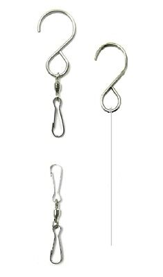 WorldaWhirl Whirligig Wind Spinner Hook Best Swivel Hanger Twist Turn Twirl (Best Metal Wind Spinners)