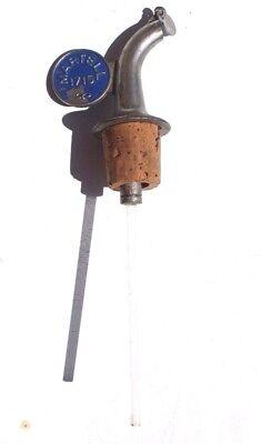 Vtg Martel 1715 Liquor Spirit Pourer Flow Bottle Pour Spout Stopper Cork