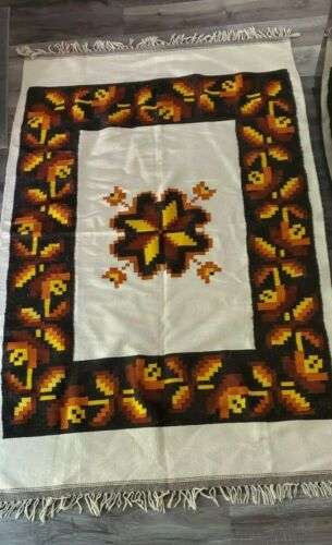 "Vintage Navajo Rug Hand Woven Wool Native American Made Blanket Rug 80"" x 49"""