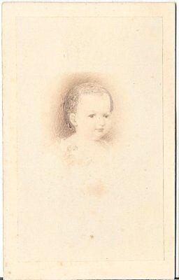 Amand Schlossarek CDV Foto Kleines Kind - Wien um 1870