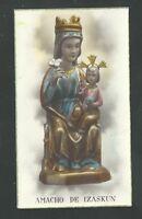 Postal Antigua De La Virgen De Izakun Andachtsbild Santino Holy Card Santini -  - ebay.es