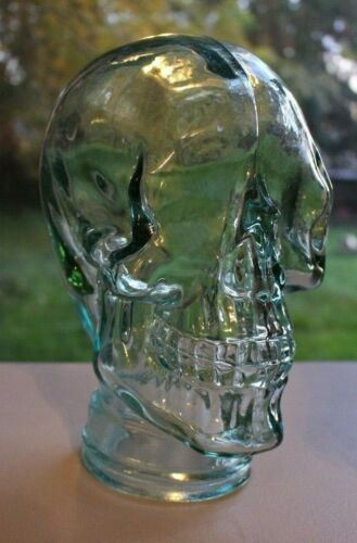Glass Skull Recycled Glass By Vidrios San Miguel Human Size Skull Decoration