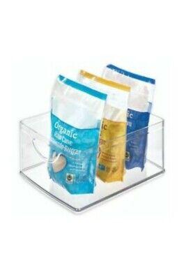 Idesign Plastic Storage Bin With Handles For Kitchen Organizer