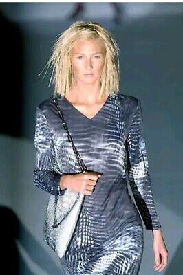 Designer Tom Ford Gucci Runway 02  Negative Print Dress. Sz 42 Uk 12 Collectible