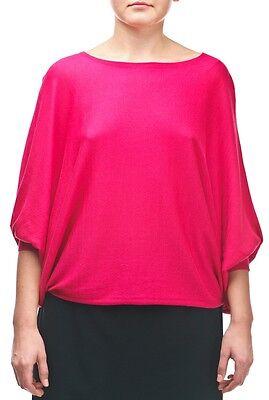UNQ Damen Pullover Rosa NEU Baumwollmischung Blusen 3/4 Arm Modal Baumwolle