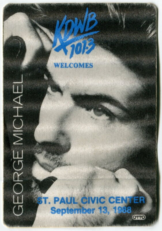 1988 [KDWB Radio] Promo Giveaway: GEORGE MICHAEL Concert Satin Sticker