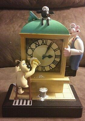 Wesco Wallace and Gromit 1989 Moving Alarm Clock Lights up Musical Works! Rare!