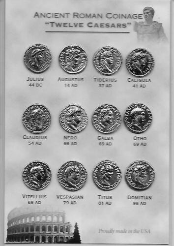 """Coin Replicas Roman """"12 Caesars"""" - can be used as an Educational Resource!"""