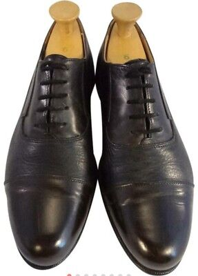 Florsheim italian shoes captoe  9.5 M oxfords black/brown  EUC for sale  Shipping to India