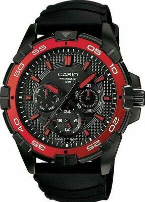 Rare Casio Mens Diver Sport Watch Black Analogue Quartz MTD-1069 5071 New