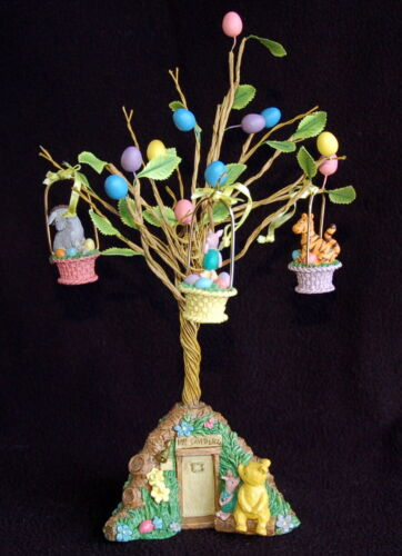 Midwest Classic WINNIE THE POOH & PIGLET EASTER TREE w/3 ORNAMENTS ~ EXC ~ RARE