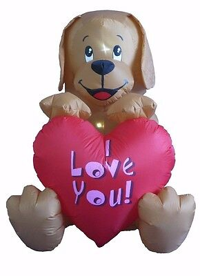 Valentine's Day Inflatable Puppy with Heart Indoor Outdoor Yard Lawn Decoration](Valentine Inflatable)