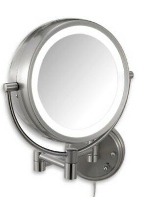 Conair Lighted Mirror BE6WMR Chromed Wall Mount Fluorescent Hotel Makeup