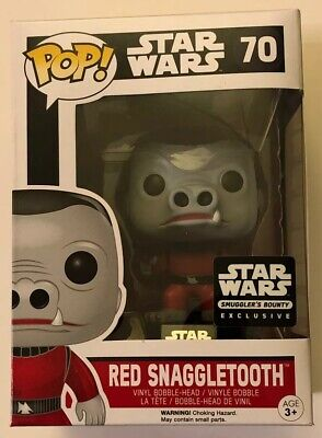 NEW Funko Pop Star Wars RED SNAGGLETOOTH #70 Smuggler's Bounty Exclusive