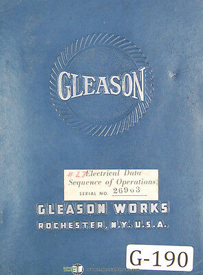 Gleason 27 Hypoid Grinder Operating Sequence J27u-os-2 Manual 1951