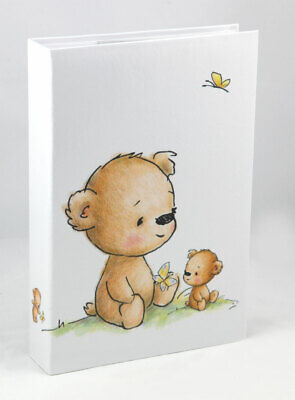 Teddybär Fotoalbum für 300 Fotos in 10x15 cm Baby Kinder Foto Album Memoalbum ()
