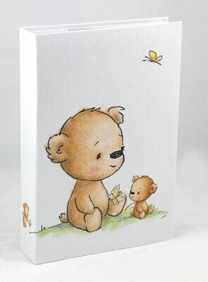 Teddybär Fotoalbum für 300 Fotos in 10x15 cm Baby Kinder Foto Album Memoalbum