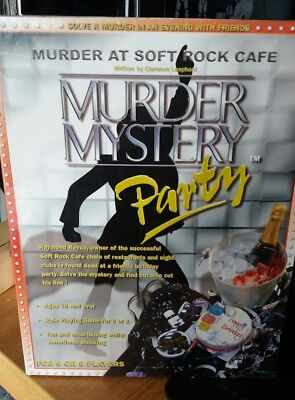 MURDER AT SOFT ROCK CAFE Mystery Party board Game  Brand New
