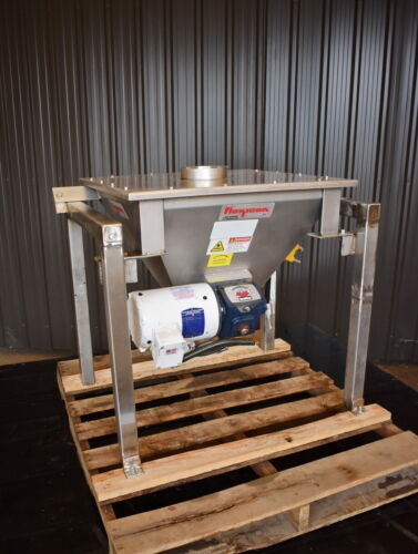 FLEXICON STAINLESS STEEL HOPPER WITH AGITATOR