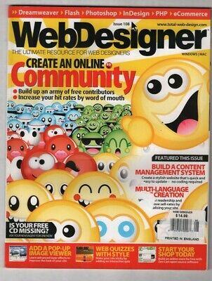 Web Designer UK Mag Create A Online Community No.108 2005 (Designer Online Uk)