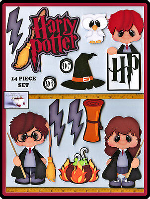 HARRY POTTER title premade scrapbook pages 14pc 3D paper piecing DIE CUT cherry