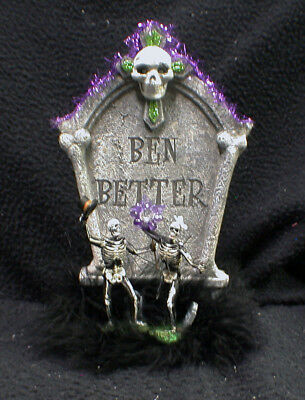 Ben Better Funny SKULL Halloween Wedding Cake Topper skeleton day of the dead - Best Halloween Wedding Cake Toppers