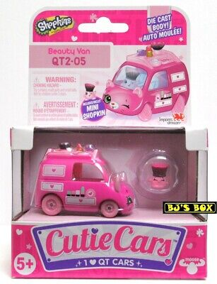 Shopkins Cutie Cars BEAUTY VAN Series#2 QT2-05 Die-Cast Car & Figure New