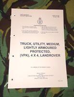 Military Army Snatch Vpk Landrover User Handbook Northern Ireland Iraq Afgan -  - ebay.co.uk