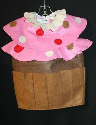 POTTERY BARN KIDS CUPCAKE HALLOWEEN COSTUME. PINK / BROWN.  Size 2T-3T. (Cupcake Kostüm Kid)