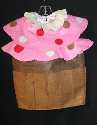 POTTERY BARN KIDS CUPCAKE HALLOWEEN COSTUME. PINK / BROWN.  Size 2T-3T. EUC!