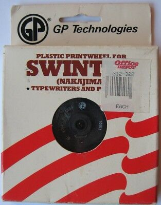 Gp Technologies Plastic Printwheel For Swintec Nakajima And Other Typewriters