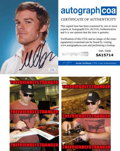 "MICHAEL C HALL signed Autographed ""DEXTER"" 8X10 PHOTO a PROOF - Killer ACOA COA"